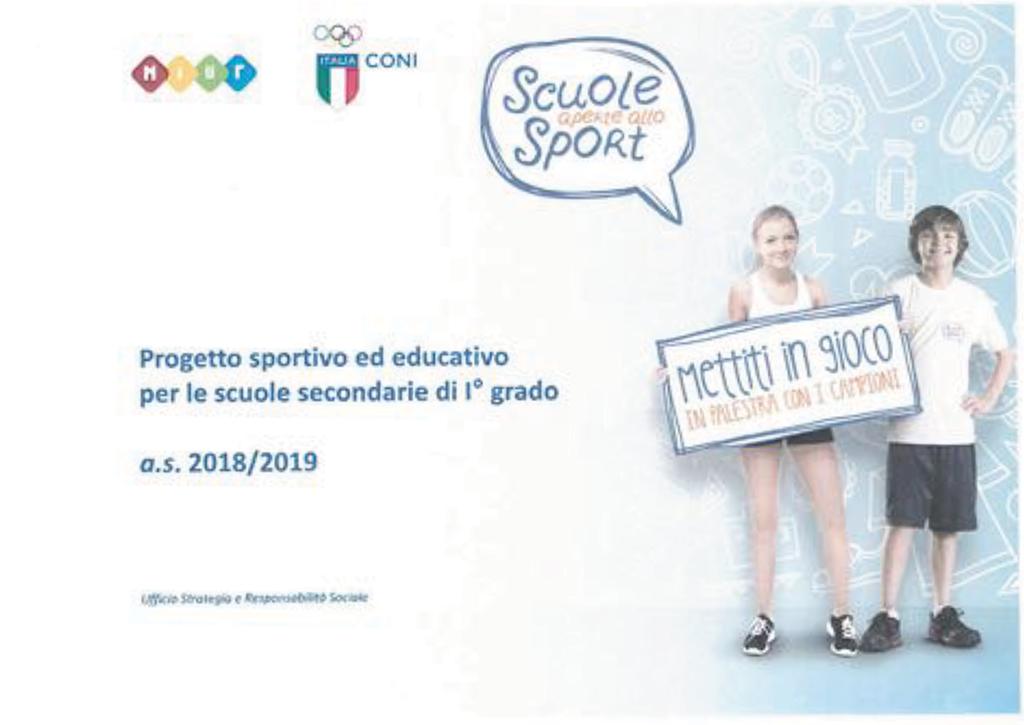 Scuole aperte allo sport A.S. 2018-2019